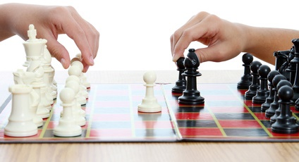 Playing Chess-copyrighted image