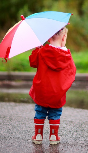 Girl with Umbrella in Rain-copyrighted image