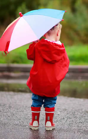 Child with Umbrella-copyrighted image