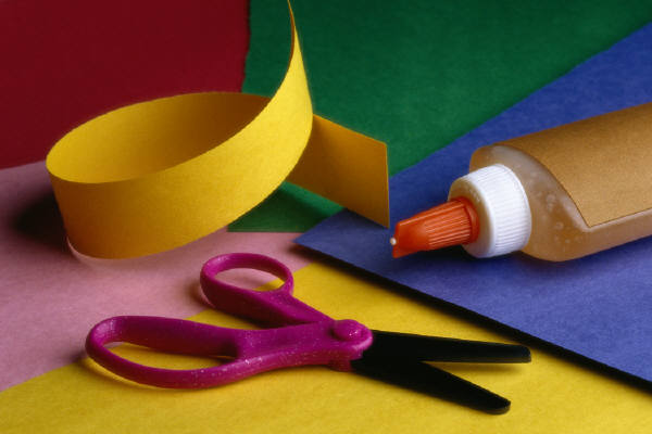 Craft Paper, Scissors, Glue
