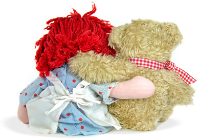 Doll and Teddy Bear-copyright 14ktgold/Fotolia.com