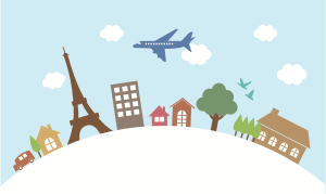 Flight to France-Open Clip Art