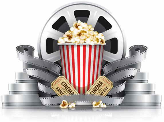 Popcorn and Film Reel-copyright LoopAll/Fotolia.com