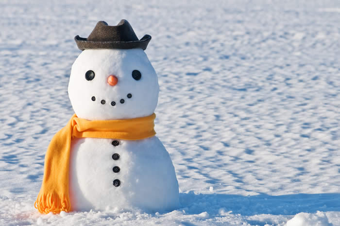 Snowman with Hat and Scarf-copyrighted image/Fotolia.com