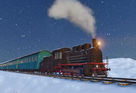 Winter Steam Train-copyrighted image