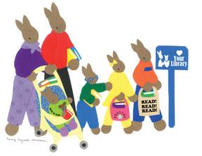 Rabbit Family-copyrighted image