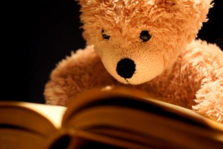 Teddy Bear Reading-copyrighted image