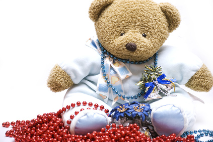 Teddy Bear with Garland-Copyrighted Image