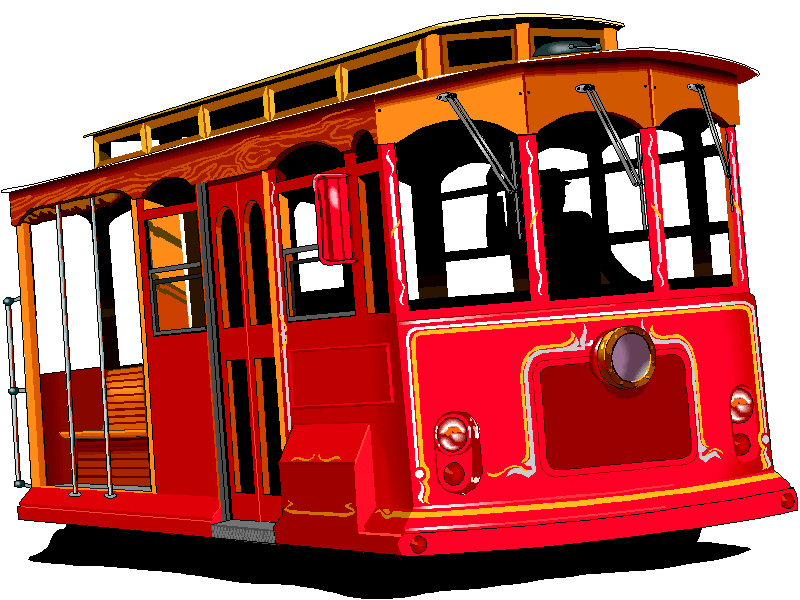 Trolley-Clipart Library