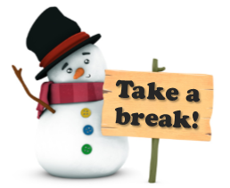 Snowman with Sign-copyrighted image
