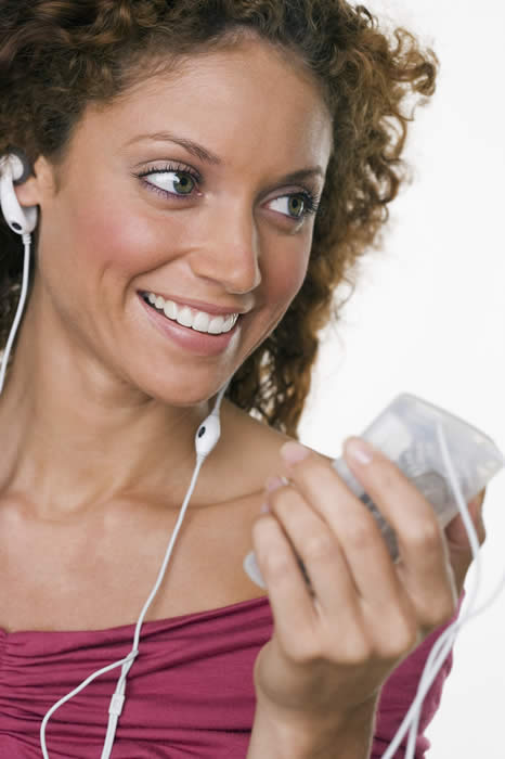 Woman Listening to iPod