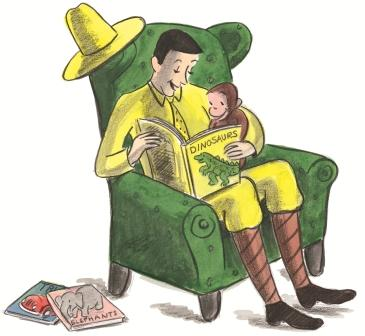 Curious George-Reading Together-illustration used with program-specific permission