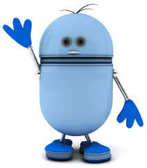 Blue Robot-copyrighted image/Fotolia.com