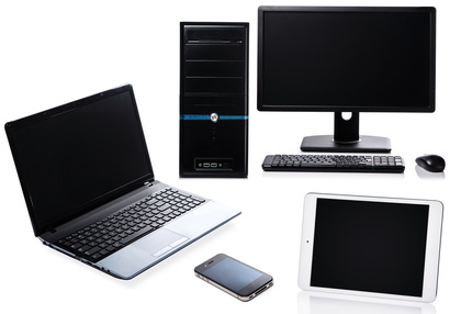 Array of Computers and Phone-Copyright blackday