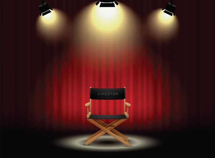 Director Chair on Stage-copyright gorralit/Fotolia.com