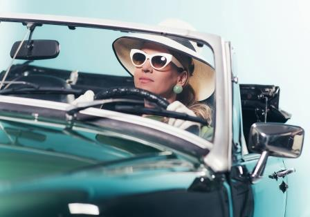 Woman Driving 1960s-copyrighted image