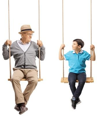 Grandfather and Grandchild-copyrighted image