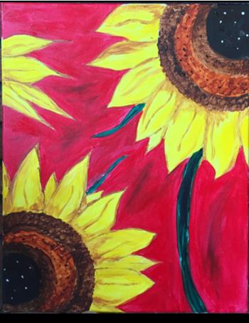 Paint Night Sunflower