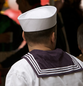 Sailor in Crowd