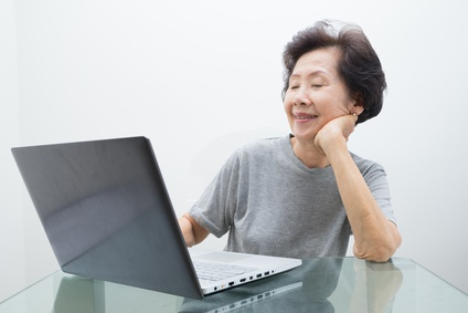 Senior Woman with Laptop-copyright patpongstock/Fotolia.com