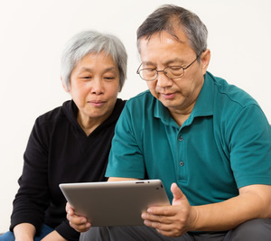 Seniors Using Tablet Computer