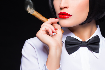 Woman with Cigar-copyrighted image