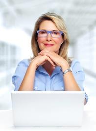 Woman at Laptop-copyright Kurhan/Fotolia.com