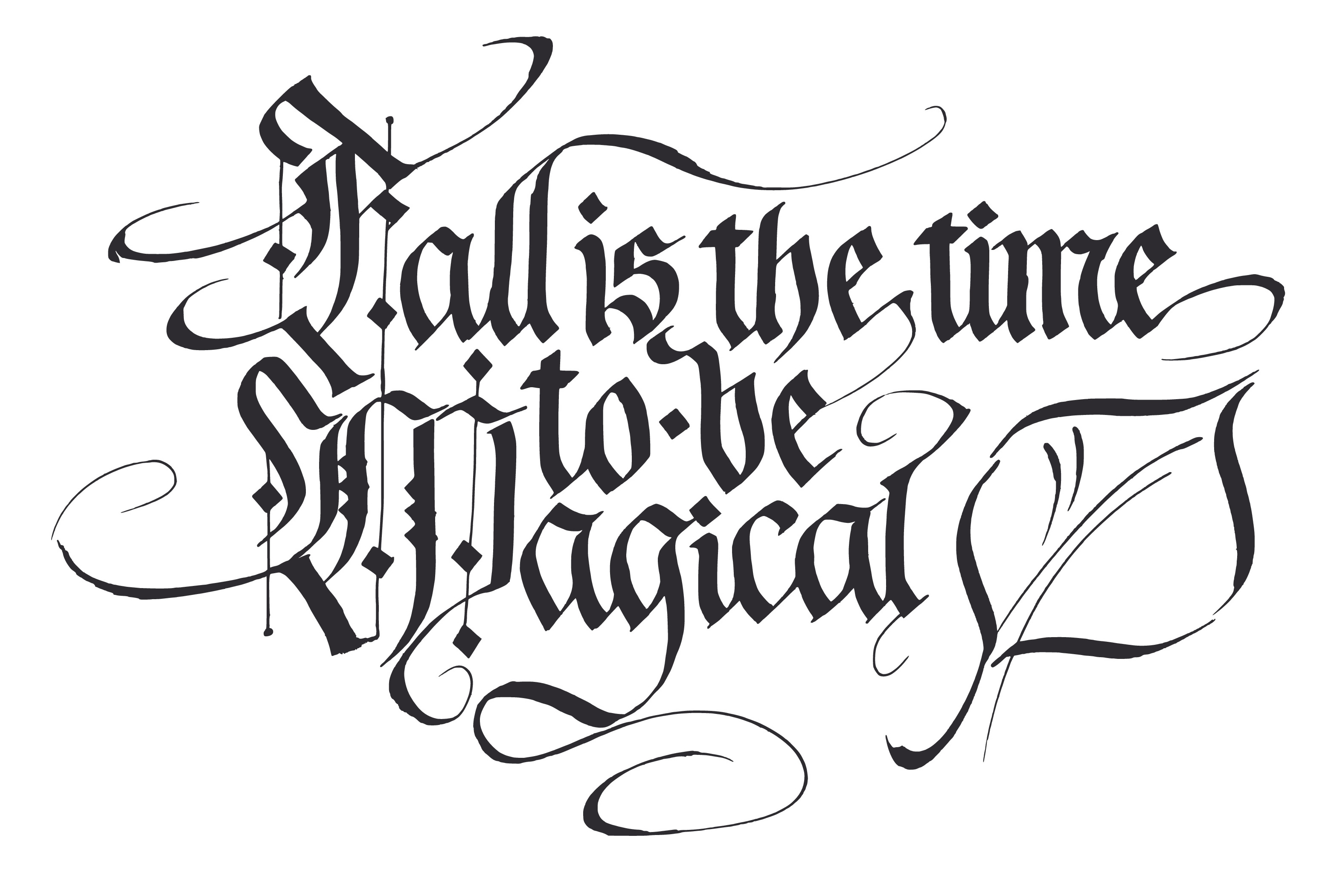 Calligraphy Message-copyrighted image