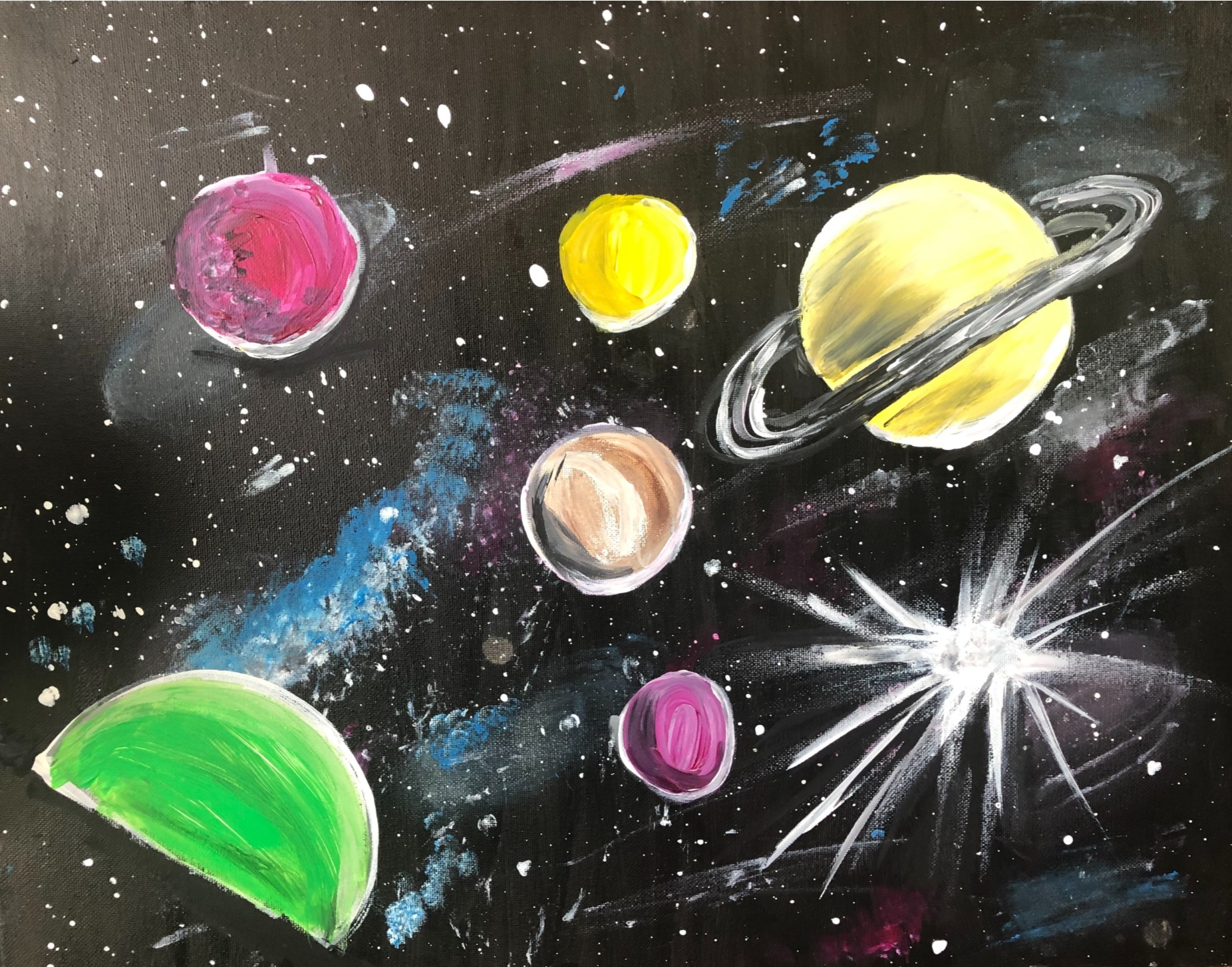 Galaxy Painting-Pam Halligan
