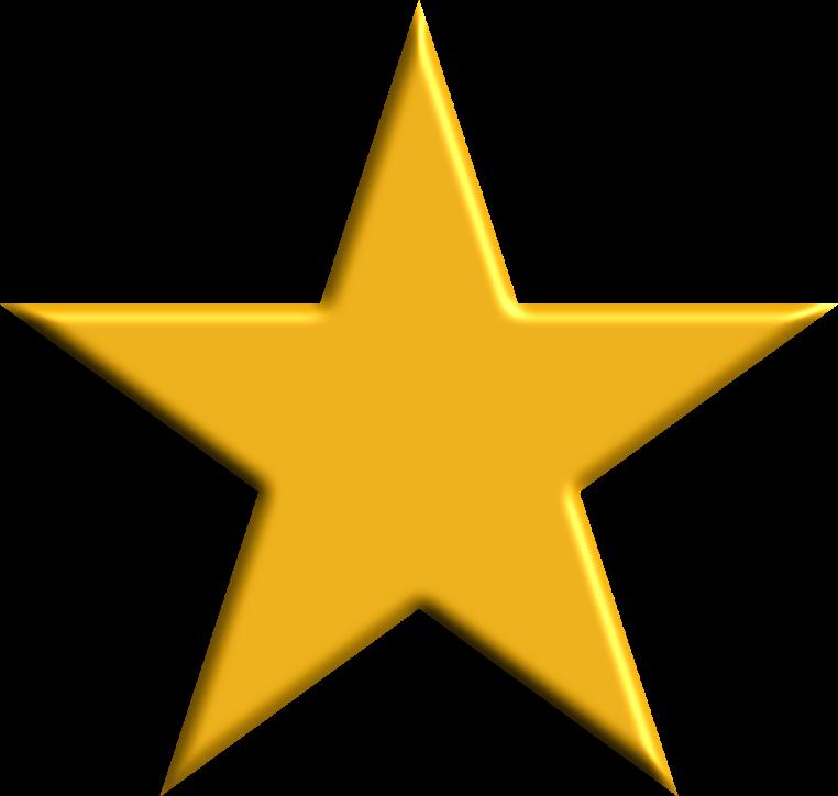 Gold Star-Open Clip Art-AdamStanislav