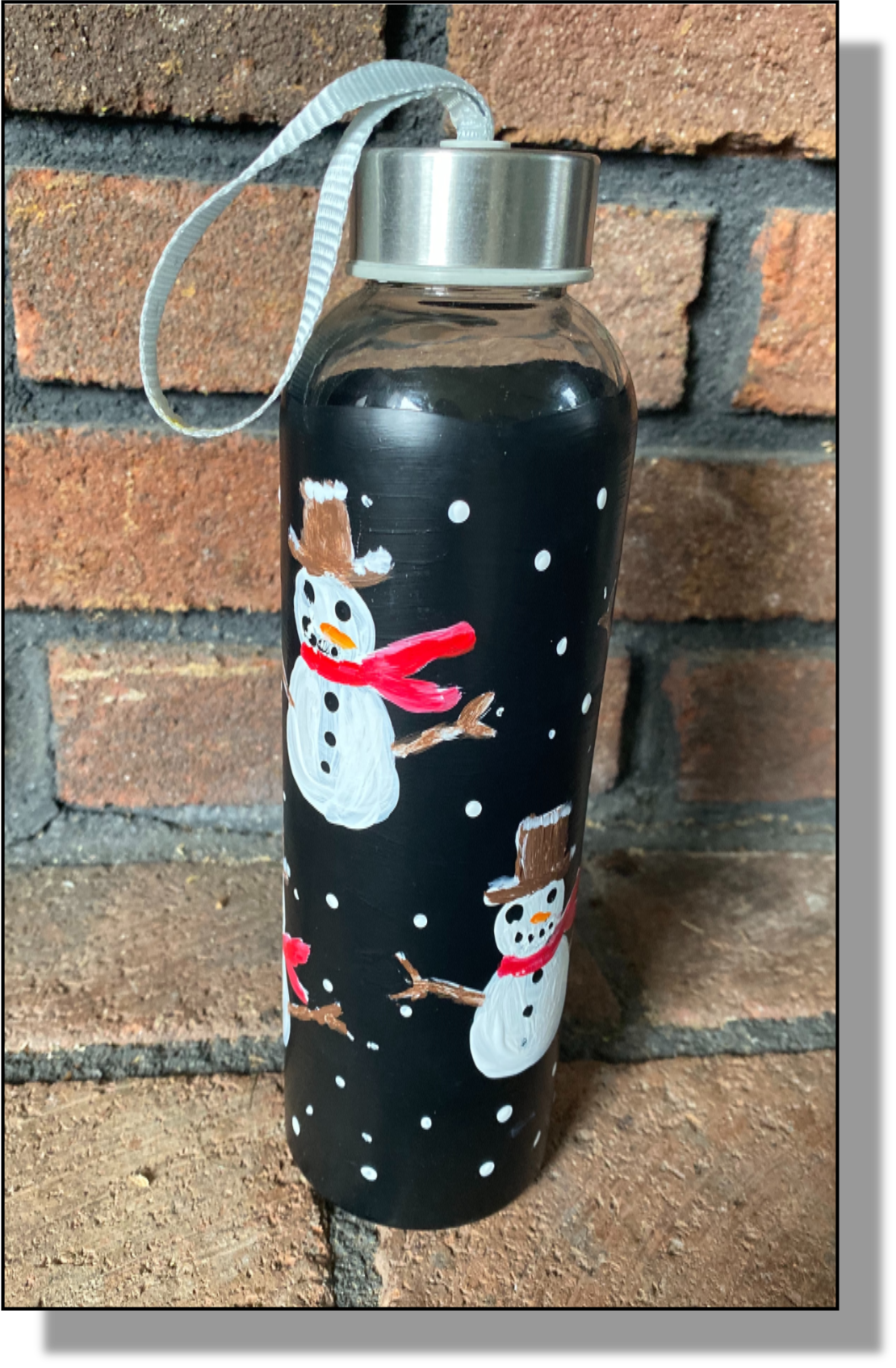 Painted Water Bottle-Pam's Picassos