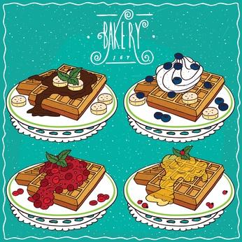 Waffle Bakery Poster-copyright ariadnas/Fotolia.com