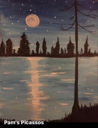 Winter Lake-Pams Picassos